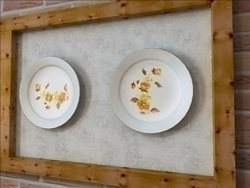 kitchen design plate 3d model lwo 79372