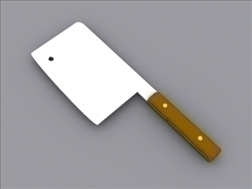 meat cleaver 2 3d model 3ds max 97982