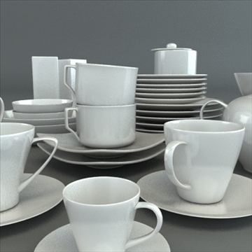 porcelain tableware set 3d model 3ds max obj 98856