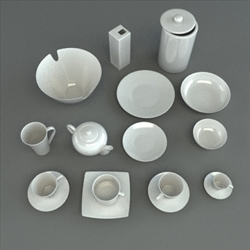 porcelain tableware set 3d model 3ds max obj 98859