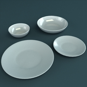 porcelain tableware set 3d model 3ds max obj 98861