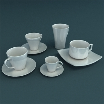 porcelain tableware set 3d model 3ds max obj 98862