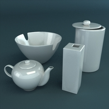 porcelain tableware set 3d model 3ds max obj 98863