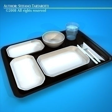 tray food 3d model 3ds dxf c4d obj 89645