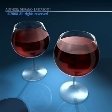 wine glasses 3d model 3ds dxf c4d obj 89173