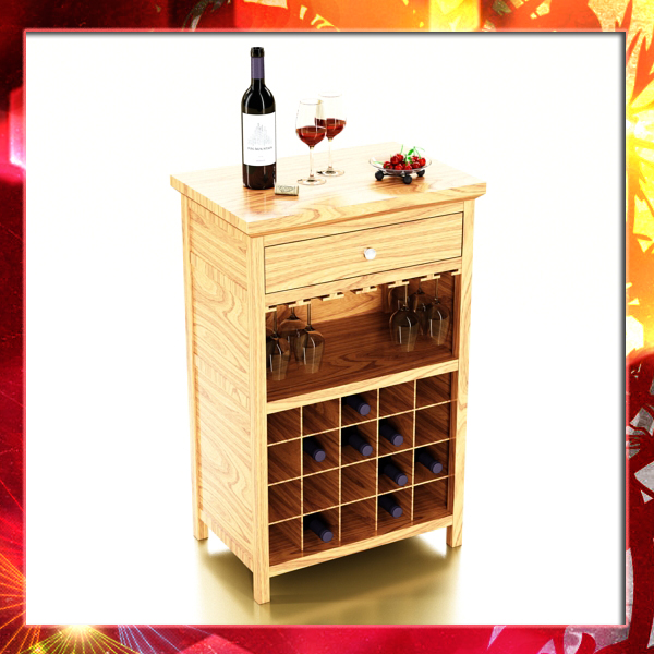 wine table rack 3, bottles, cups and cherries 3d model 3ds 147045