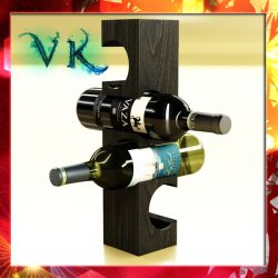 Wine Rack 6 and 2 Wine Bottles ( 256.02KB jpg by VKModels )