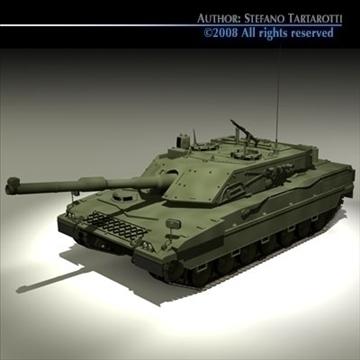 ariete tank 3d model 3ds dxf c4d obj 91519