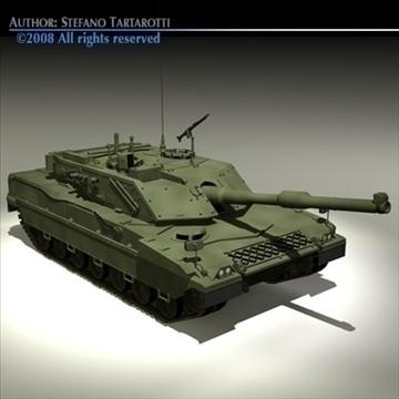 ariete tank 3d model 3ds dxf c4d obj 91520