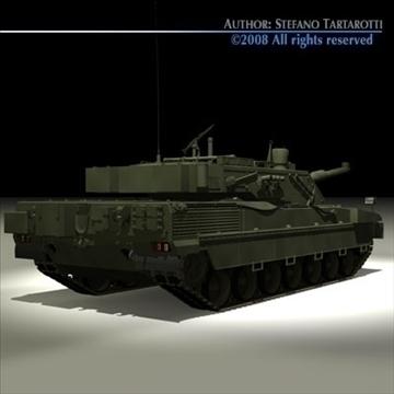 ariete tank 3d model 3ds dxf c4d obj 91521