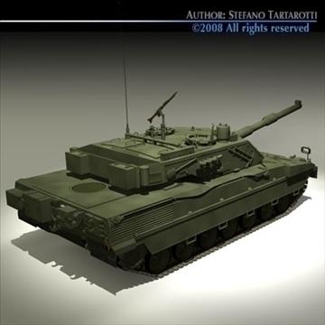 ariete tank 3d model 3ds dxf c4d obj 91522