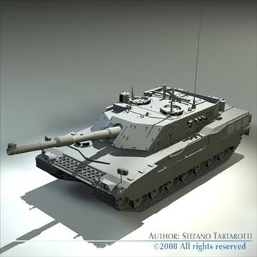 ariete tank 3d model 3ds dxf c4d obj 91524
