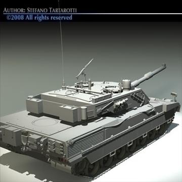 ariete tank 3d model 3ds dxf c4d obj 91526