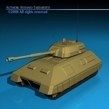 battle tank 01 3d model 3ds dxf c4d obj 88374