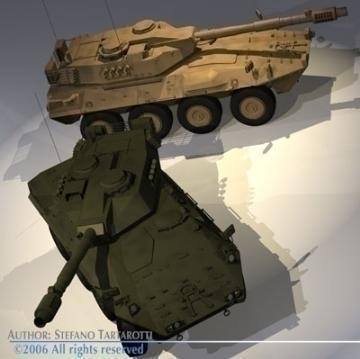 centauro b1 tank destroyer 3d model 3ds max c4d obj 77973
