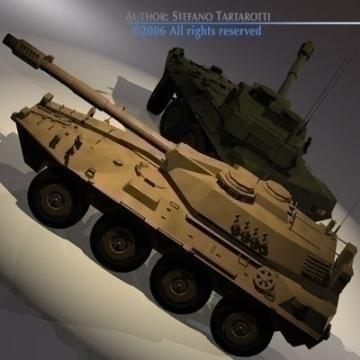 centauro b1 tankur Destroyer 3d líkan 3ds max c4d obj 77974