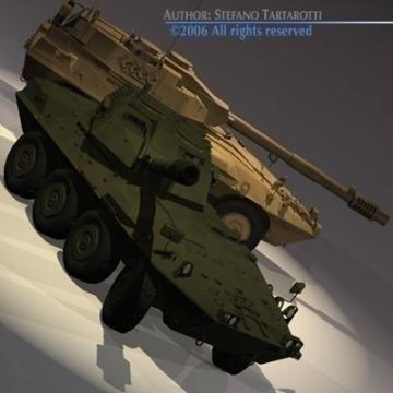 centauro b1 tankur Destroyer 3d líkan 3ds max c4d obj 77975