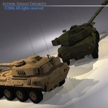 centauro b1 tankur Destroyer 3d líkan 3ds max c4d obj 77976
