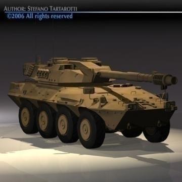 centauro b1 tankur Destroyer 3d líkan 3ds max c4d obj 77977