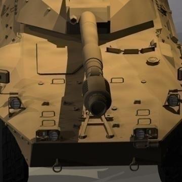 centauro b1 tankur Destroyer 3d líkan 3ds max c4d obj 77978