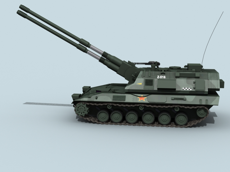 china self propelled howitzer 3d model 3ds max fbx obj 123531