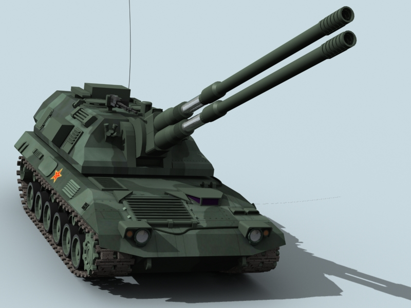 china self propelled howitzer 3d model 3ds max fbx obj 123534