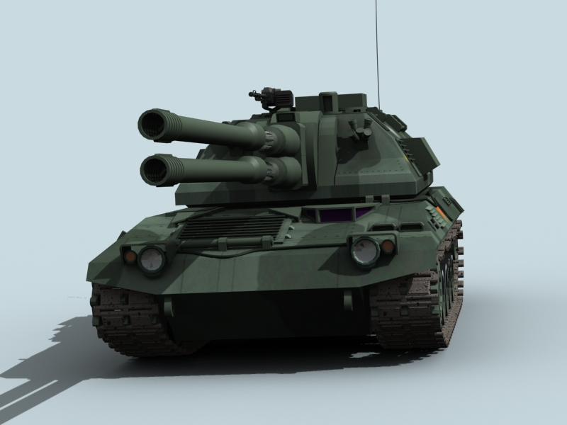 china self propelled howitzer 3d model 3ds max fbx obj 123536