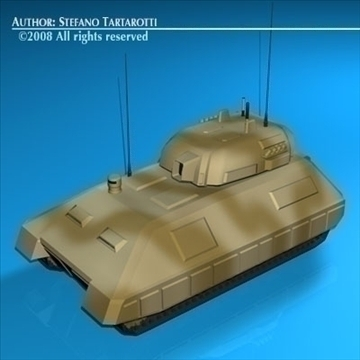 electronic war tank 3d model 3ds dxf c4d obj 88378