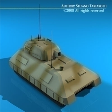 electronic war tank 3d model 3ds dxf c4d obj 88379