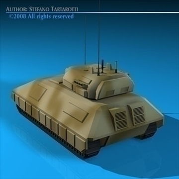 electronic war tank 3d model 3ds dxf c4d obj 88380