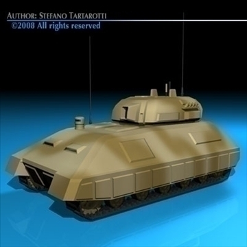 electronic war tank 3d model 3ds dxf c4d obj 88381