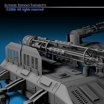 guntank 3d model 3ds c4d obj 80723