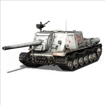 isu 122 soviet self propelled gun 3d model c4d 106670