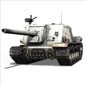 isu 122 soviet self propelled gun 3d model c4d 106673