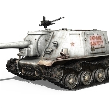 isu 122 soviet self propelled gun 3d model c4d 106674