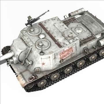 isu 122 soviet self propelled gun 3d model c4d 106675