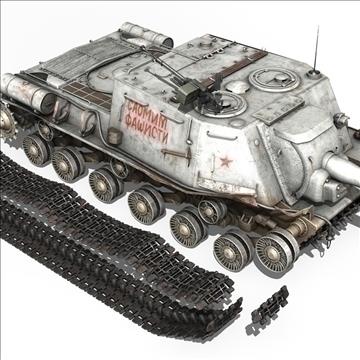 isu 122 soviet self propelled gun 3d model c4d 106677