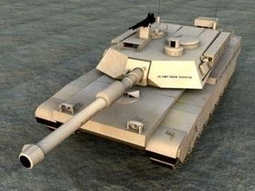 m1a2 abrams model 3d 3ds lwo 77927