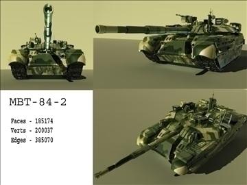 mbt 84 2 russian tank 3d model ma mb 102215