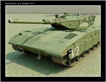 merkawa israel 2007 3d model max fbx obj 80179