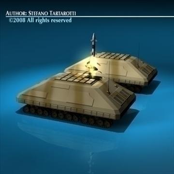 missile tank 3d model 3ds dxf c4d obj 88382