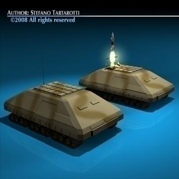 missile tank 3d model 3ds dxf c4d obj 88386