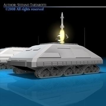 missile tank 3d model 3ds dxf c4d obj 88387