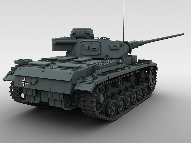 panzer 3 3d model 3ds max fbx obj 122617