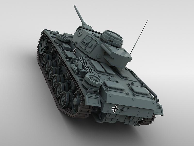 panzer 3 3d model 3ds max fbx obj 122619
