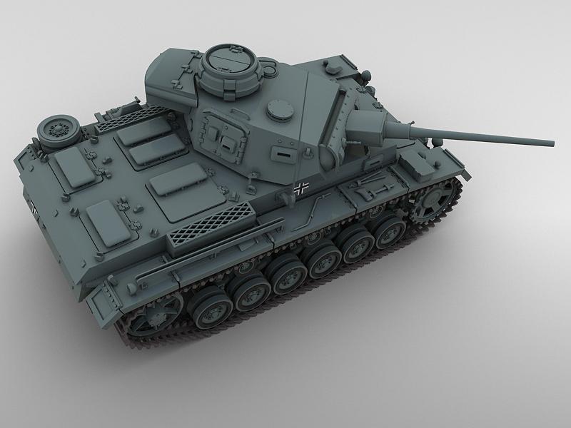 panzer 3 3d model 3ds max fbx obj 122620