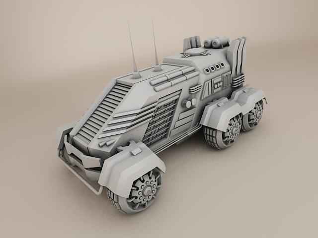 sci fi vehicle 3d model 3ds max fbx obj 113471