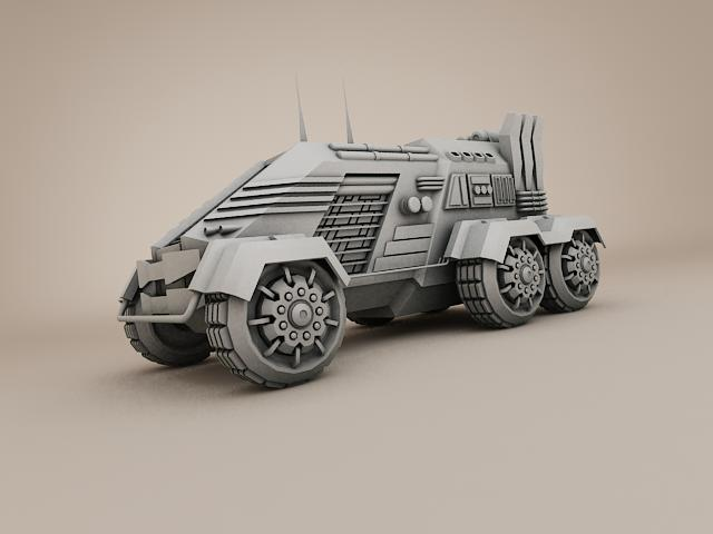 sci fi vehicle 3d model 3ds max fbx obj 113472