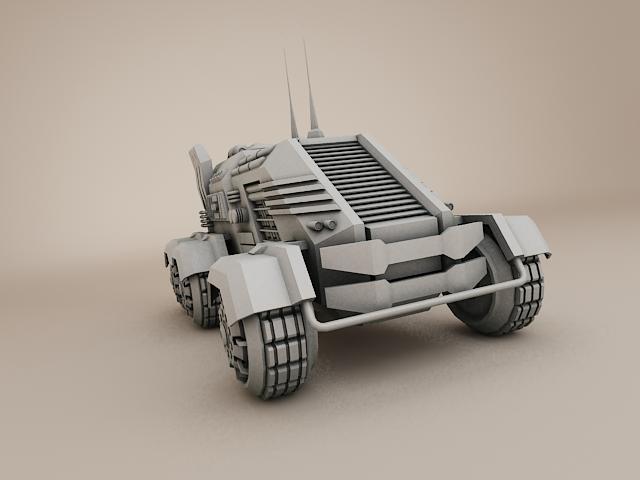 sci fi vehicle 3d model 3ds max fbx obj 113474