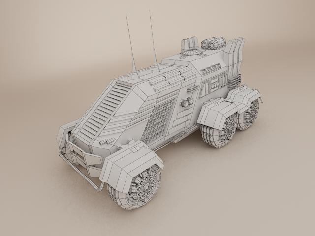 sci fi vehicle 3d model 3ds max fbx obj 113475